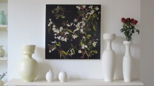 Flower painting by Julia langley