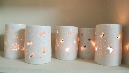 tealight holders by anna perring