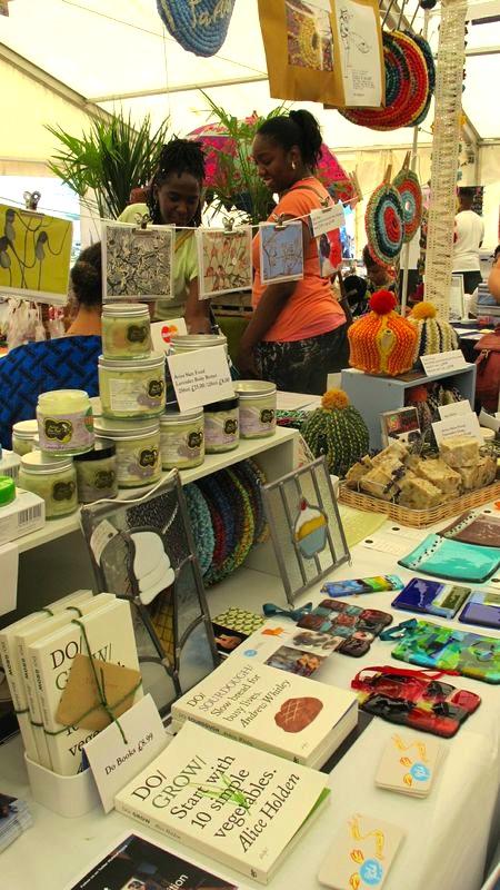 Blue patch stall, natty Peeps, Do Books, Avisa Skin Food, Sue King Glass, Julia Langley cards,