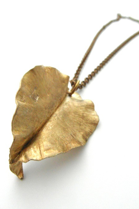 recycled brass necklace