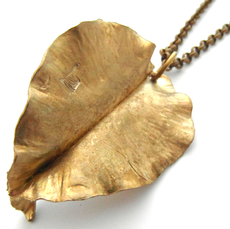 Recycled brass jewellery made in the UK