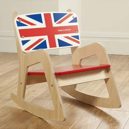 Union Jack Rocking Chair by Kids Play Kit