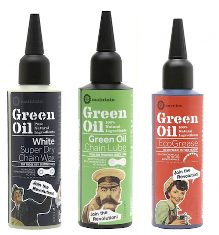 Eco-friendly green oil for bikes
