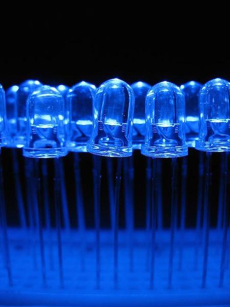 blue led, blue light emitting diode, nobel prize physics, blue patch, efficient light