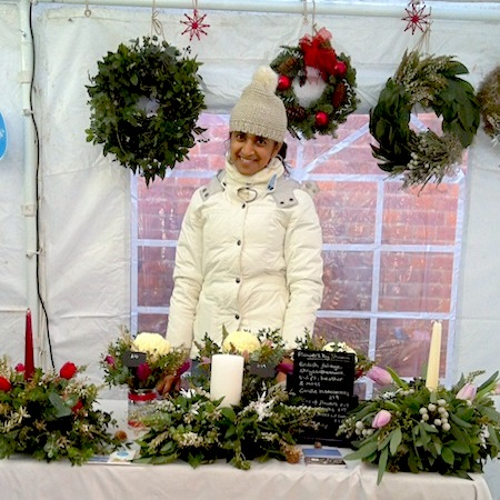 Flowers By Shamini, Herne Hill Christmas Fair, Blue Patch