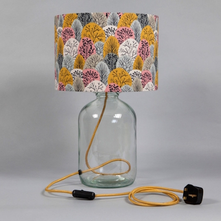 upcycling, blue patch, eco friendly lights, sustainable design
