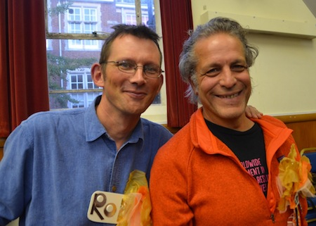 Co-founders of Transition Totnes (the mother ship) Rob Hopkins and Naresh Giangrande