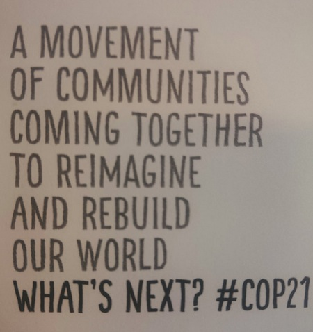 #Cop21 Paris, Transition Conference 2015
