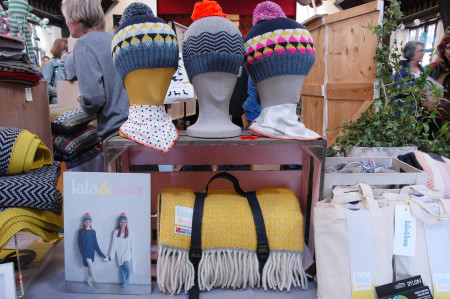 blue patch British made knit and textiles