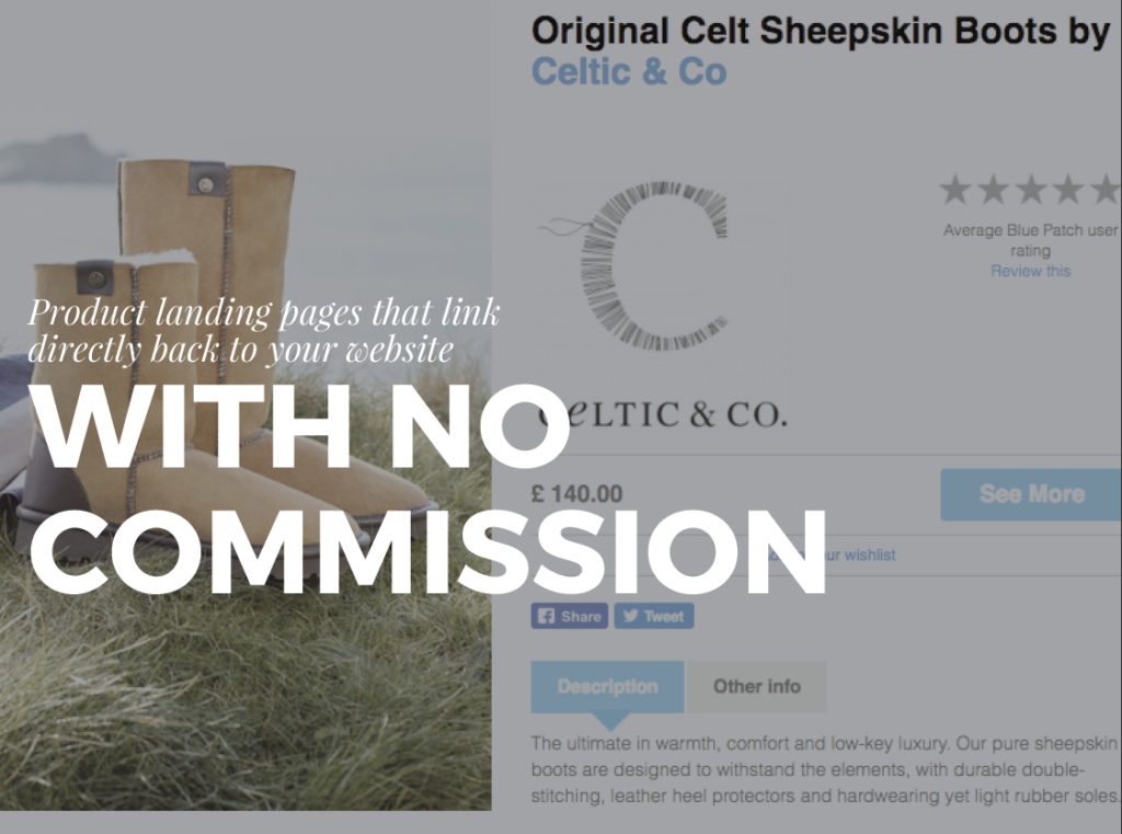 commission free selling, direct to your website