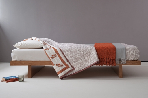 Natural Bed Company - Kyoto Bed in solid oak.