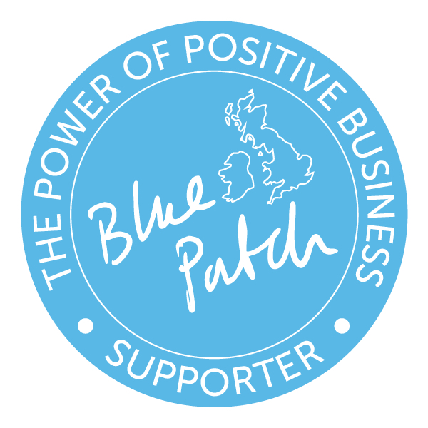 Blue Patch power of positive business