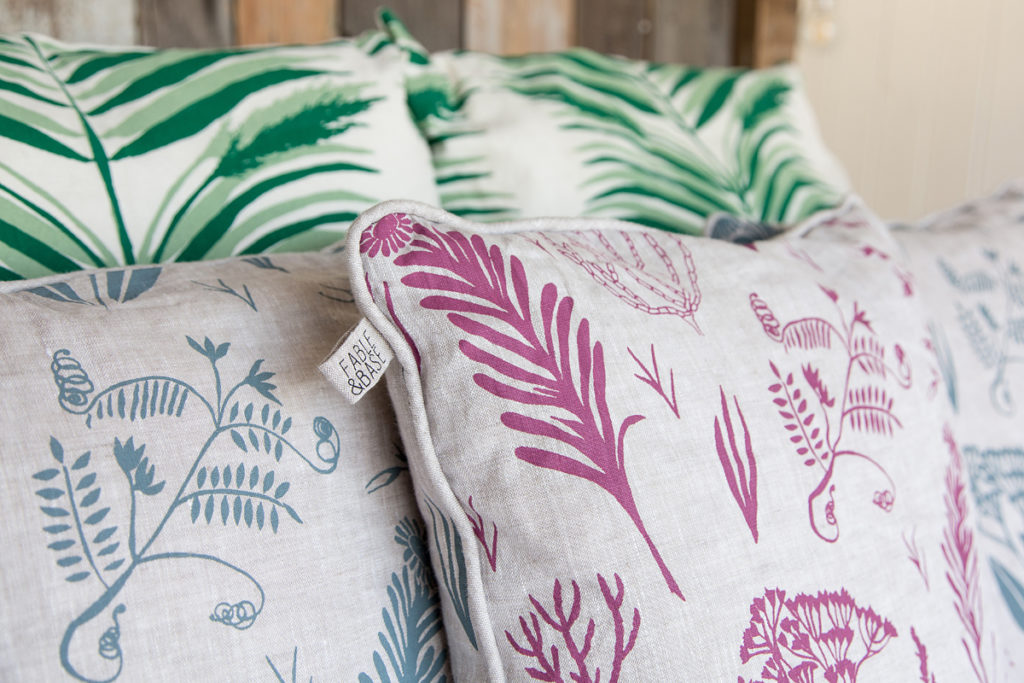 Sustainable textiles and handprinted fabrics