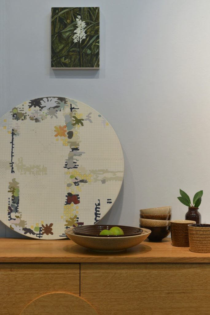 Denby Pottery and Julia and Jane Langley, painters at London design fair.