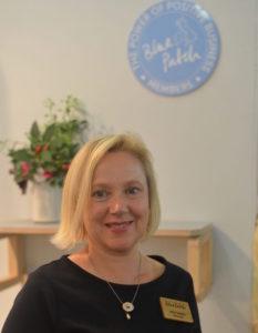 Jane Langley Blue Patch founder