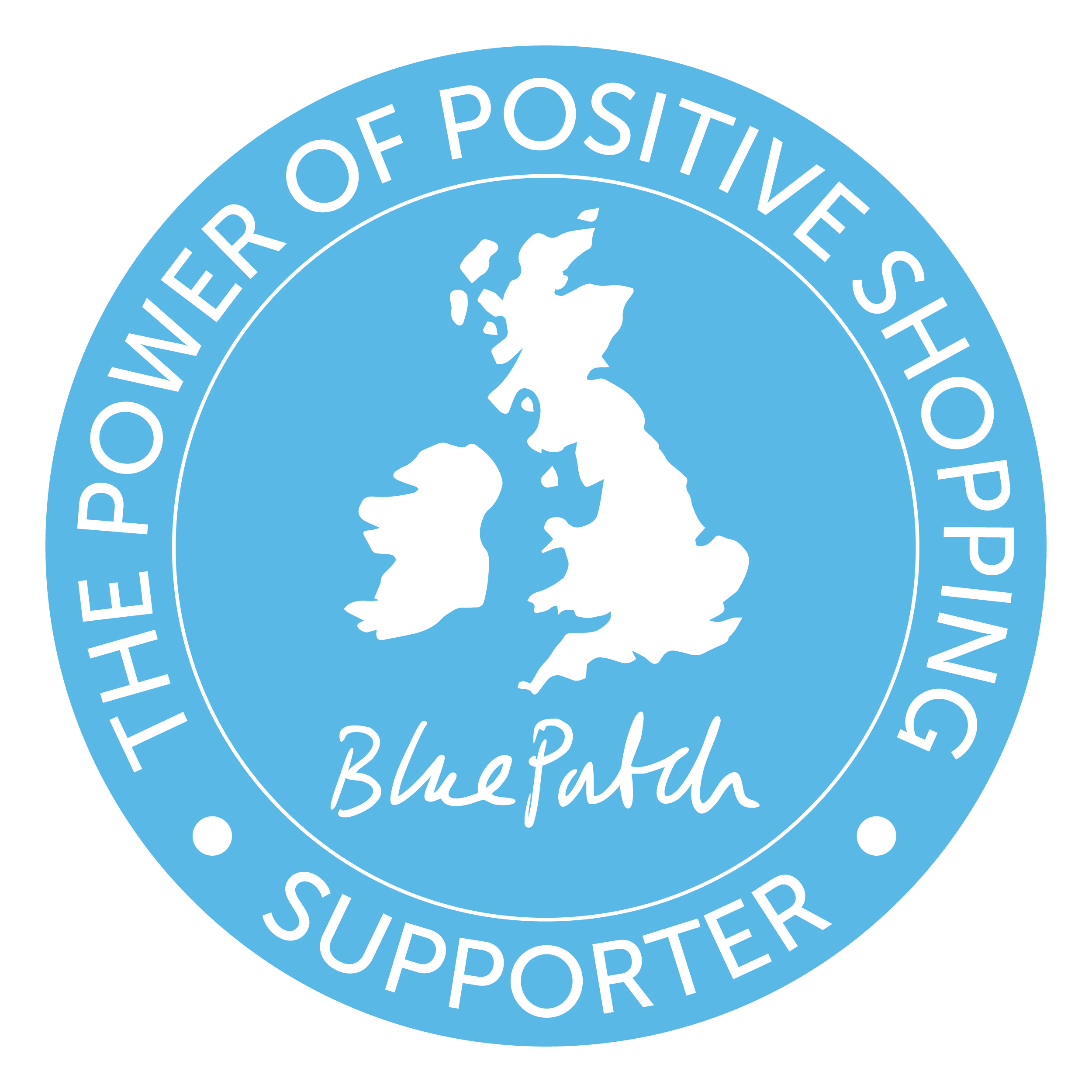 The Power of Positive shopping,bluepatch