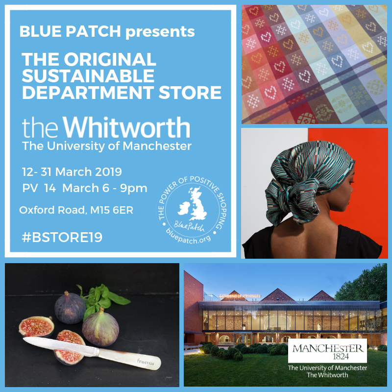 The flyer for the sustainable department store, Manchester