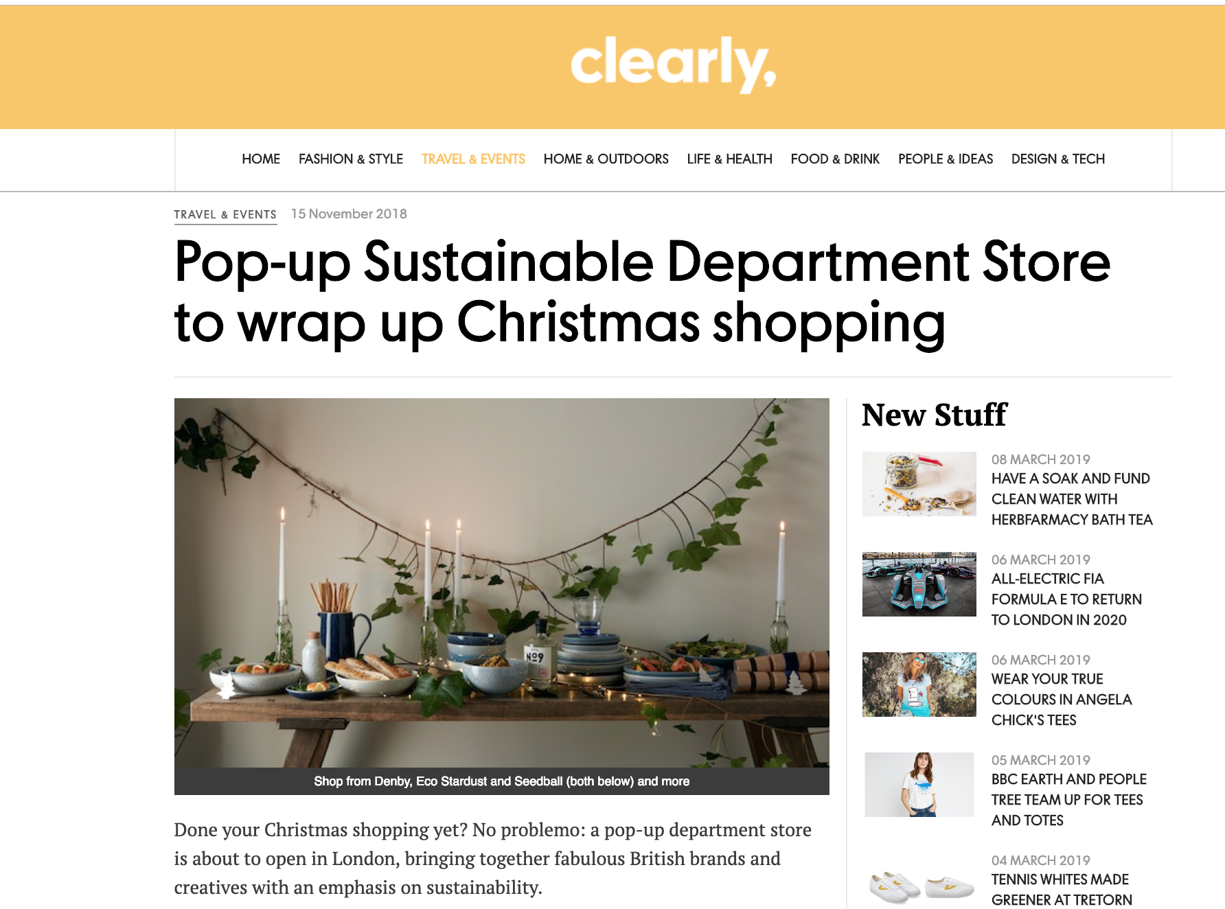 sustainable department stores