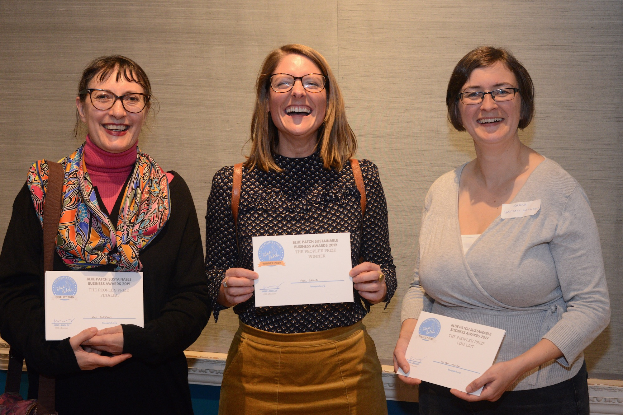 Blue Patch awards people's prize
