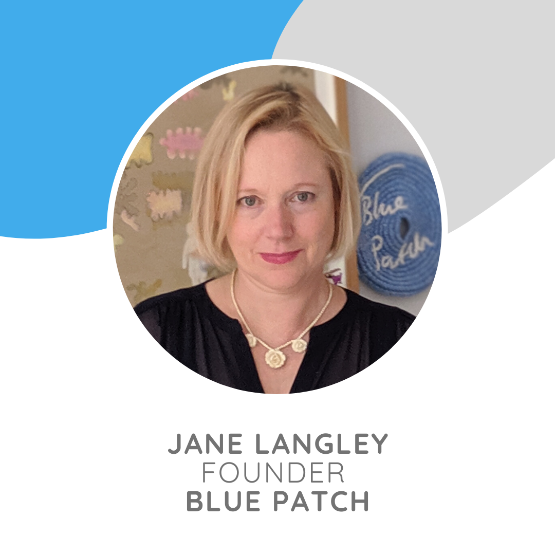 Jane Langley founded Blue Patch in 2014, having spent over 20 years as a painter, teacher and curator of exhibitions.